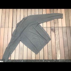 PREMIUM COTTON V-neck Sweater Grey